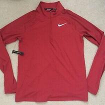Brand New Men Nike Element 2.0 1/2 Zip Running Top Rusty Orange Sz Medium Photo