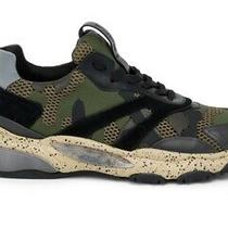Brand New Mens Valentino Garavani Bounce Sneakers Camouflage Green Size 40 Photo