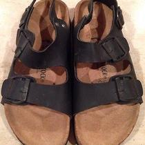 Brand New Mens Birkenstock Black Sandals Shoes Size 40 Photo