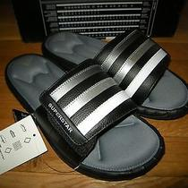 Brand New Mens Gray Black & White Adidas Superstar 3g Slide Sandals Photo
