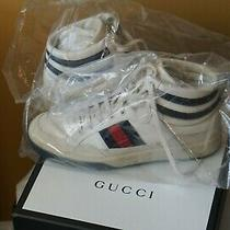 Brand New Mens Gucci High Top Leather Sneakers Shoes Us Size 11 Vintage Inspired Photo