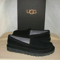 Brand New Mens Ugg Dex Slip-on Slippers Black Suede Size 9 Photo