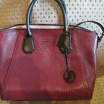 Brand New Michael Kors Campbell Merlot Leather Satchel Bag/purse368 30fsteps3l Photo