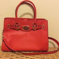 Brand New Michael Kors Ew Hamilton Leather Tote Bag Purse Mandarin Orange Red Photo