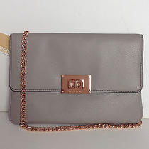Brand New  Michael Kors Pearl Grey and Rose Gold Sloan Clutch Shoulder Bag  Photo