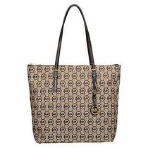 Brand New Michael Michael Kors Large Jet Set N/s Top Zip Tote Handbag Purse Photo