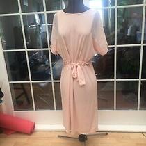 Brand New Miss Selfridge Chiffon Light Blush Pink Stretch 70s 80s Belt Dress 10 Photo