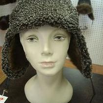 Brand New Muskrat Lamb Fur Leather Hat for Men/women Photo