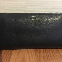 Brand New Navy Blue Womens Fossil Wallet Photo