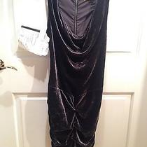Brand New Nicole Miller Gray Ruched Gown Dress 4 New Photo