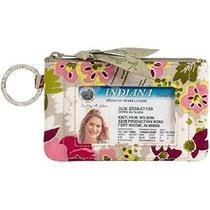 Brand New Nwt Vera Bradley Zip Id Case With Key Ring in Make Me Blush Id Wallet  Photo