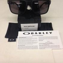 Brand New Oakley Holbrook Sunglasses Matte Black/ Warm Grey Brand New Free Ship Photo