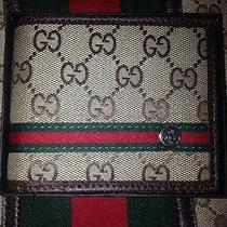 Brand New Original Gucci Canvas Bifold Wallet Photo