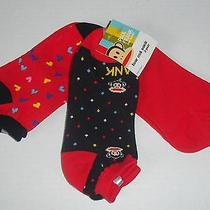 Brand New Paul Frank for Target Girls Low Cut Ankle Socks 3 Pair Size 9-11 Lot Photo