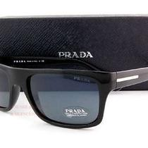 Brand New Prada Sunglasses 18p 18ps 1ab 09a Black for Men 100%Authentic Designer Photo