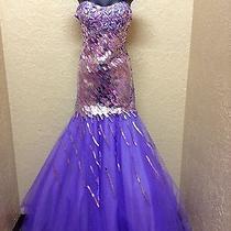 Brand New Purple Blush Prom Dress/gown Size 6 Photo