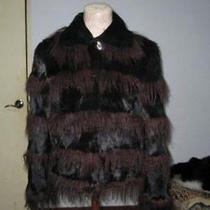 Brand New Rabbit & Tibet Lamb Fur Coat Women Sz Custom Photo