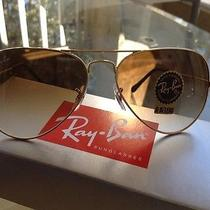 Brand New Rayban Aviator Gold 58mm Medium Size Free Shipping Photo