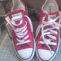 Brand New Red Converse Shoes Size 8 Photo