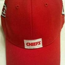Brand New Reebok Nfl Kc Kansas City Chiefs Red Embroidered One Fit Baseball Cap  Photo