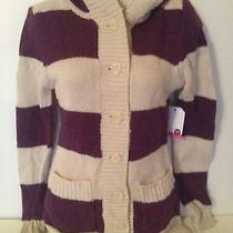 Brand New Roxy Quiksilver Big Purple Button Up Hooded Hoodie Sweater Top Xs Photo