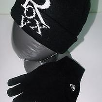 Brand New Roxy Women Beanie   Gloves Set - Black Photo