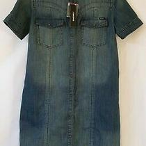 (Brand New - Rrp 180.00) Womens Diesel Tidov Kleid Denim Dress Photo