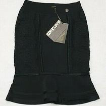 (Brand New - Rrp 585.00) Roberto Cavalli Black Knitted Skirt Photo