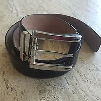 Brand New Salvatore Ferragamo Black Leather Belt for Men - 34 Photo