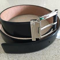 Brand New Salvatore Ferragamo Black Leather Belt for Men - 38 Photo
