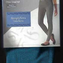 Brand New Simply Vera Vera Wang Chino Leggings Sz L Free Shipping Photo