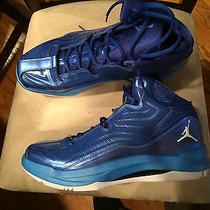 Brand New Size 11.5 Mens Air Jordan Aero Mania 552313 405 Game Royal White Blue Photo