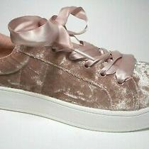 Brand New Sm by Steve Madden Size 9m Blush Pink Velour Fabric Sneaker Shoes  Photo