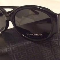 Brand New Sonia Rykiel Women's Sunglasses Black Sr763100 in Case With Cloth Bag Photo