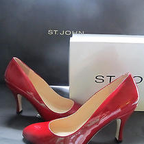 Brand New St John Knit Size 7 M Womens Red Patent Leather Heels 3.5 Inches Photo