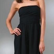 Brand New Theory Frederica Strapless Black Dress in Size 8 Photo