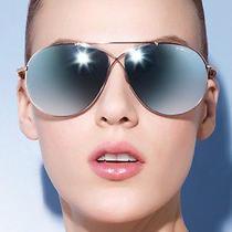Brand New Tom Ford Eva Sunglasses 61mm Rose Gold Blue Sky Mirror 425 Photo
