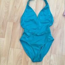 Brand New Topshop Seafoam Green High Cut One Piece Swimming Costume Bikini 10 Photo
