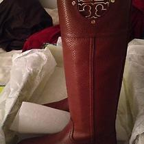 Brand New Tory Burch Kiernan Almond Riding Boots 6.5 Tumbled Leather Photo