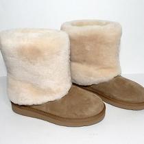 Brand New Ugg Australia Pattern Suede Boot Chestnut/cream Fur Cuff Women 6 M Photo
