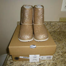 Brand New Ugg Toodler Classic Short Ii Gold Glitter Boots 1098491t Size 12 Photo