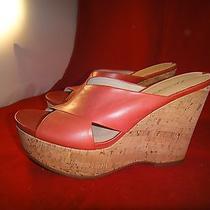 Brand New via Spiga Tan Wedge Sandals Photo