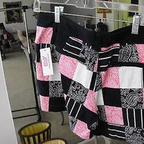 Brand New Vineyard Vines Cotton/spandex Pink/blue/white Patch Shorts  8r Photo