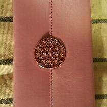 Brand New W Tag Very Cute Logo Deco Coach Wallet in Purple Leather Retail 158 Photo