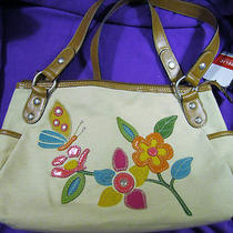 Brand New W/tags Relic by Fossil Eisley Shopper Tote Multi-Color Handbag W/64 Photo