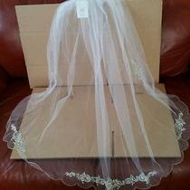 Brand New Wedding Veil With Real Swarovski Crystals Photo