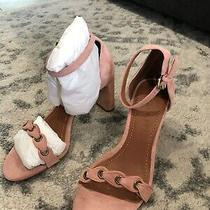Brand New With Box Coach Womens Size 7 Heel Sandal With Coach Link Peony Pink Photo