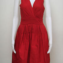 Brand New With Tag 325 Size 4 M Lacquer Red Color Cocktail Dress Dkny   Photo