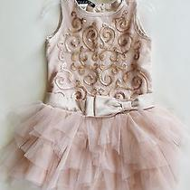 Brand New With Tags Baby Girl Blush Pink Sequin Tutu Dress Size 12 Months Photo