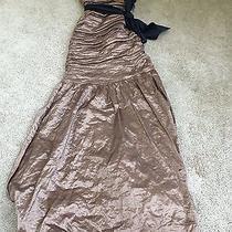 Brand New With Tags Bcbg Maxazria Tana Bronze Taffeta Small Dress Photo